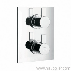 Thermostatic concealed mixer with diverters