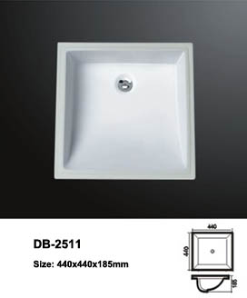 Square Undermount Sink Small Undermounted Undercounter Mounting Single