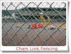 chain-link fencing wall
