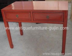 Chinese antiques red table