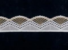 Stretch lace trim