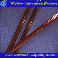 red quartz glass tube
