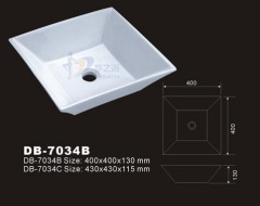 Square Ceramic Sink,Square Bath Sink,Square Vessel Sink,Square Bathroom Sink,Porcelain Basin,Porcelain Washbasin