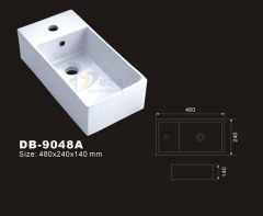 Rectangle Vessel Sink,Small Vessel Sink,Small Bathroom Basin,Rectangular Vessel Sink,Rectangle Bathroom Washbasin