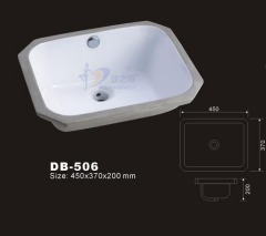 Under mount Sink,Rectangular Undermount Sink,Undermounted Lavatory,Porcelain Undercounter Washbasin