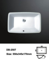 Rectangular Undermount Sink,Undermount Sink,Undermounted Bathroom Basin,Undermounted Bathroom Sink