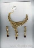 Antique gold necklace set