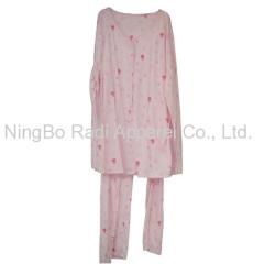 100% cotton printed lady pajama