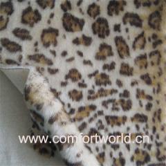Fake Fur Garment Fabric Printed