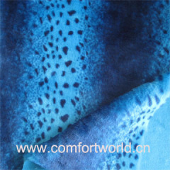 Printed Fake Fur Fabric
