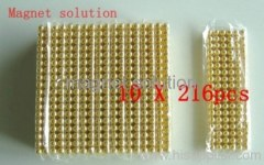 5mm neocubes gold coating