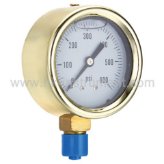 Cast Brass Liquid Filled Gauge