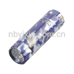 9 LED s Aluminum Flashlight