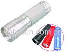 9 LEDs Aluminum Flashlight