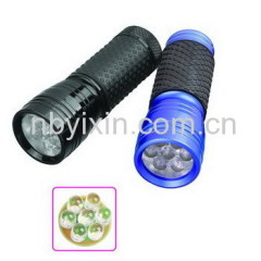 7 LEDs Aluminum Flashlight