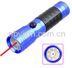 8+1 Laser Pointer Flashlight