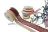 Organza Satin Edge / Metallic Stripe Ribbon