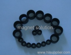plastic injection ferrite multi pole ring magnets