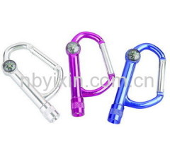 1 LED Carabiner Keychain Light