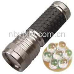 7 LEDs Aluminum Torch
