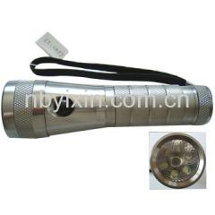 6+1 Aluminum Tri-Light LED Torch