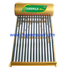 non pressurized integrated solar heater