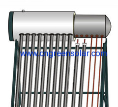 compact pressurized solar heater