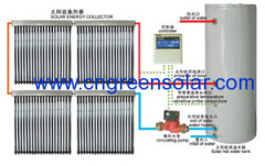 separated pressurized solar energy heater
