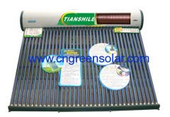 pre-heated pressurized solar energy heater