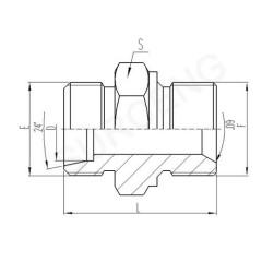 aluminum hydraulic adapter