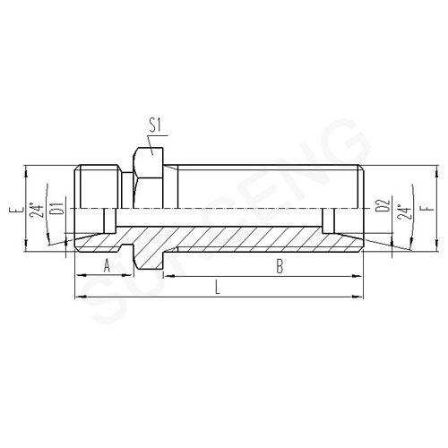steel elbow adapter