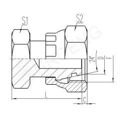 steel 90 elbow adapter