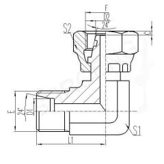brass 90 elbow adapter