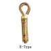 4Pcs Heavy Duty Shell Anchor with threaded bar