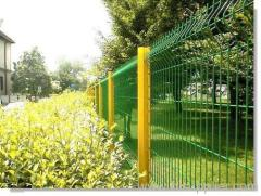 Green coated welded wire mesh fencing