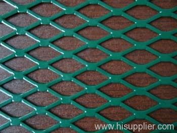 green pcv coated expanded metal