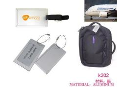 alunimum luggage tags