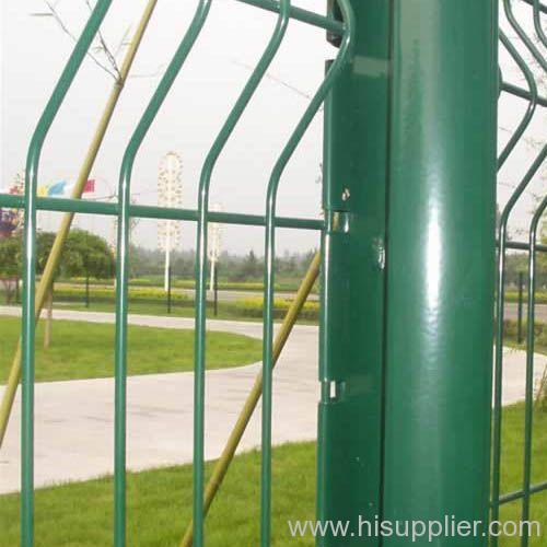 green PVC coated garden fences