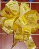 printed pom pom pull bow