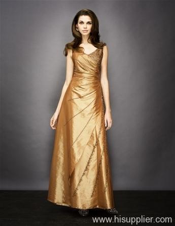 gold evening dress