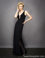 black chiffon evening dress