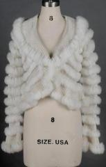 Ladies' Knitted Rabbit Fur Jacket