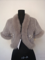 Kniteed Rabbit Fur Jacket