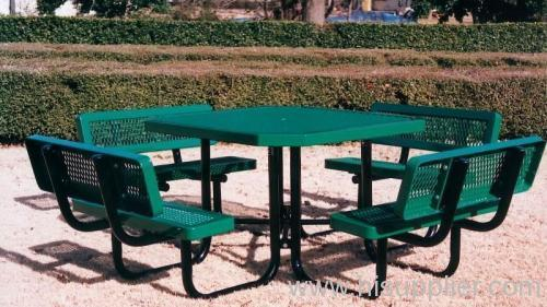 pvc coating expanded metal bench