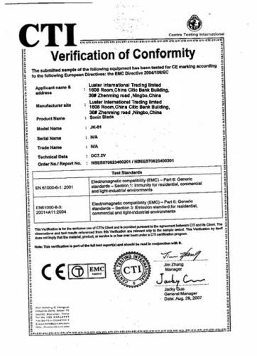 CE-LUSTER INTERNATIONAL TRADING LTD