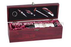 wine set wood box