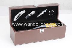 4piece wine set tool