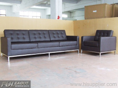 FLORENCE KNOLL SOFA,MODERN LEATHER SOFA ,OFFICE SOFA