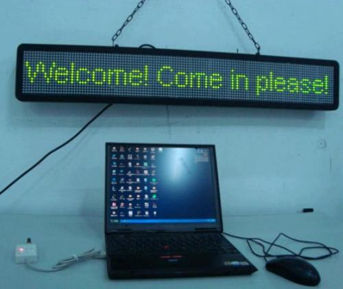 LED  moving message display  controlled by wireless  USB  .