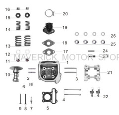 GY6 Cylinder head kit